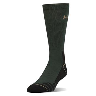 Under Armour Hitch Charged Boot Socks Combat Green / Canvas