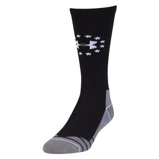 Under Armour Hitch Lite Freedom Boot Socks Black / White