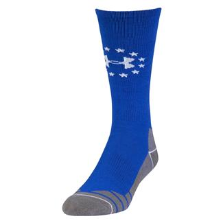Under Armour Hitch Lite Freedom Boot Socks Royal / White