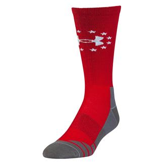 Under Armour Hitch Lite Freedom Boot Socks Red / White