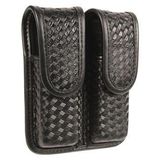 Blackhawk Molded Double Mag Case Basket Weave Black