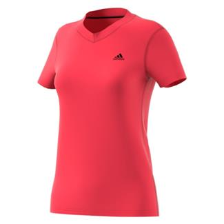 Adidas Ultimate V Neck T-Shirt Core Pink / Black