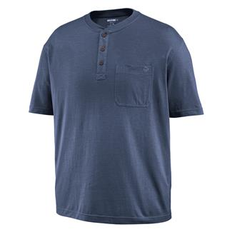 Wolverine Knox Henley Cadet Heather Blue
