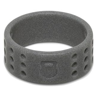 Qalo Perforated Silicone Ring with Kettlebell Smoke Gray
