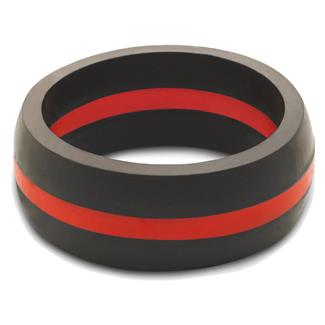 Qalo Thin Red Line Silicone Ring Red