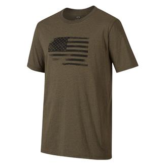 Oakley Glory Flag T-Shirt Dark Brush Dark Heather