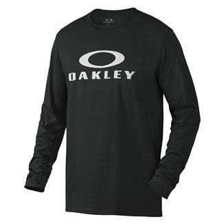 Oakley Long Sleeve Bark Repeat T-Shirt Blackout