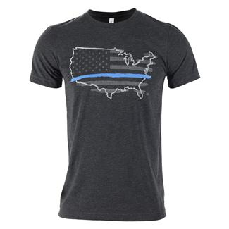 TG Thin Blue Line T-Shirt Charcoal Black