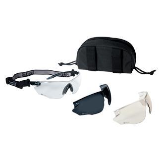 Bolle Combat Kit Black (frame) - Clear / CSP / Smoke (lens)