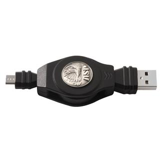 ASP Retractable Charging Cord Black