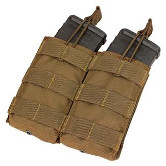 Condor Double M4 / M16 Open Top Mag Pouch Coyote Brown