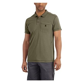Carhartt Force Extremes Pocket Polo Burnt Olive