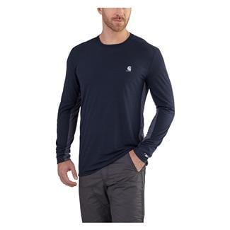 Carhartt Force Extremes Long Sleeve T-Shirt Navy / Bluestone