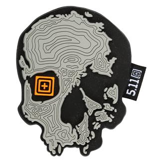 5.11 Topo Skull Patch Gray Heather