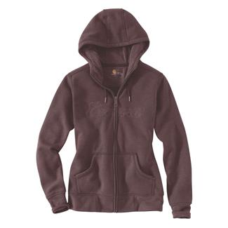 Carhartt Clarksburg Zip Hoodie Deep Wine Heather