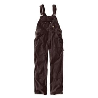 Carhartt Crawford Double Front Bib Overalls Dark Brown