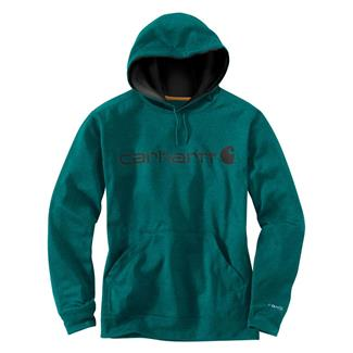 Carhartt Force Extremes Signature Logo Hoodie Everglade Heather