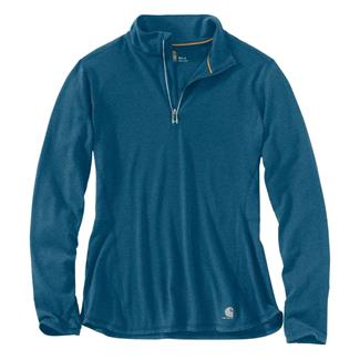 Carhartt Force Ferndale 1/4 Zip Shirt Stream Blue Heather
