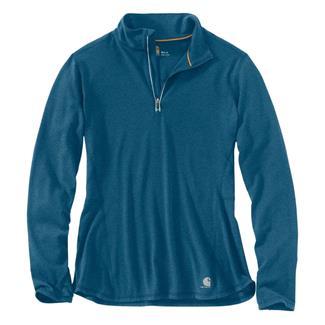 Carhartt Force Ferndale 1/4 Zip Shirt Stream Blue Heather