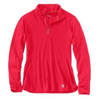 Carhartt Force Ferndale 1/4 Zip Shirt Bright Coral