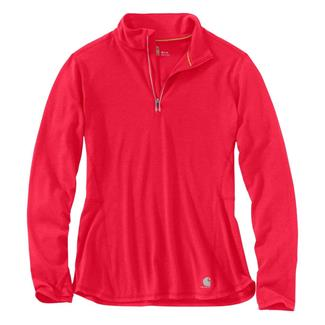 Carhartt Force Ferndale 1/4 Zip Shirt Bright Coral