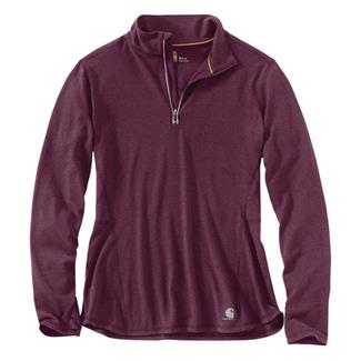 Carhartt Force Ferndale 1/4 Zip Shirt Potent Purple Heather