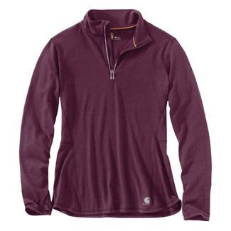 Carhartt Force Ferndale 1/4 Zip Shirt Potent Purple Heather