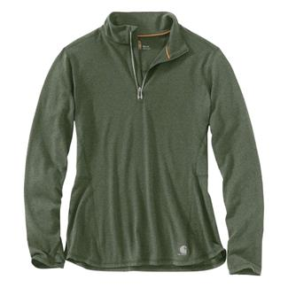 Carhartt Force Ferndale 1/4 Zip Shirt Grape Leaf Heather