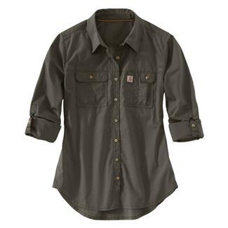 Carhartt Force Ridgefield Shirt Olive