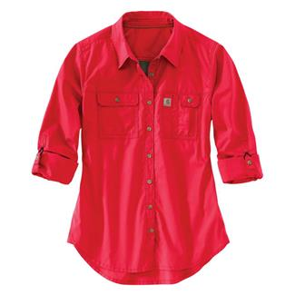 Carhartt Force Ridgefield Shirt Bright Coral