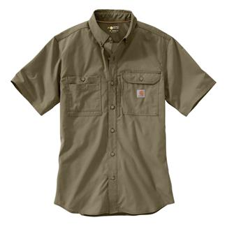 Carhartt Force Ridgefield Solid Short Sleeve Shirt Burnt Olive