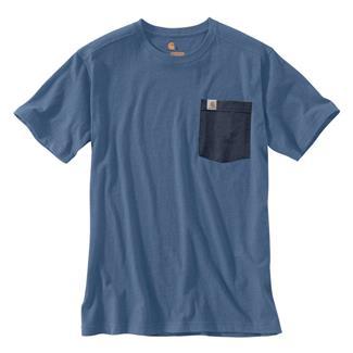 Carhartt Maddock Novelty Pocket T-Shirt Tidal Blue Heather