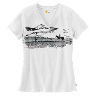 Carhartt Wellton V-Neck Graphic T-Shirt White