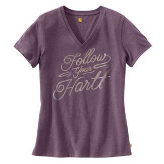 Carhartt Wellton V-Neck Graphic T-Shirt Vintage Violet