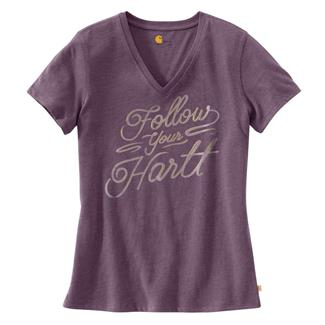 Carhartt Wellton V-Neck Graphic T-Shirt Vintage Violet