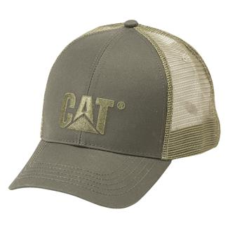 CAT Raised Logo Hat Olive