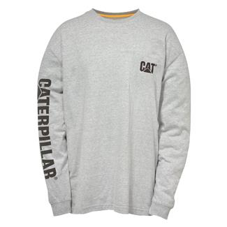 CAT Long Sleeve Trademark Banner T-Shirt Heather Gray