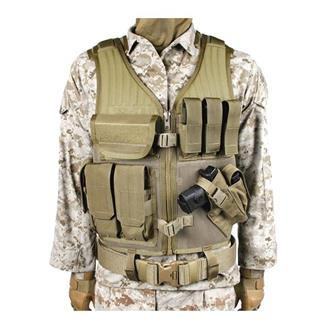Blackhawk Omega Elite Vest Cross Draw Coyote Tan