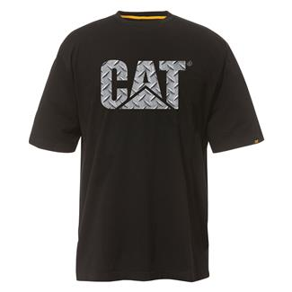 CAT Custom Logo T-Shirt Black / Diamond Plate