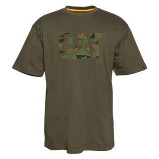 CAT Custom Logo T-Shirt Army Moss / Woodland Camo