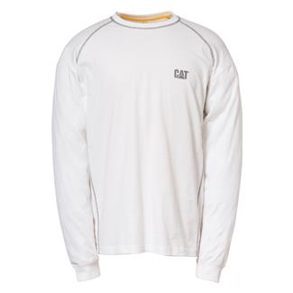 CAT Long Sleeve Performance T-Shirt White
