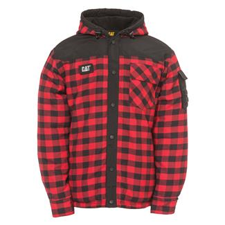 CAT Sequoia Shirt Jacket Red Buffalo Plaid