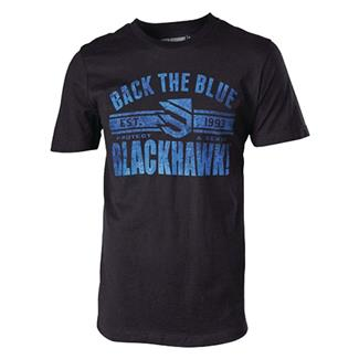 Blackhawk Back the Blue T-Shirt Black