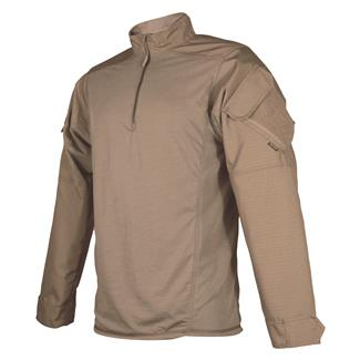 TRU-SPEC Poly / Cotton 1/4 Zip Urban Force Combat Shirt Coyote