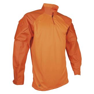 TRU-SPEC Poly / Cotton Twill 1/4 Zip Combat Shirt Hi-Viz Orange