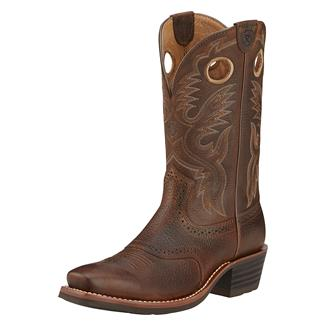 """Ariat 12"""" Heritage Roughstock Brown Oiled Rowdy"""