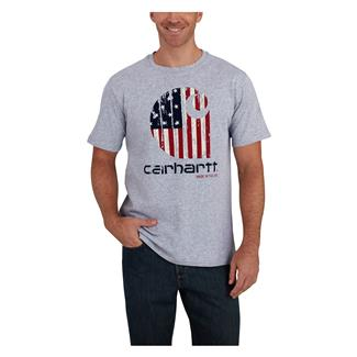 Carhartt Lubbock American Branded T-Shirt Heather Gray