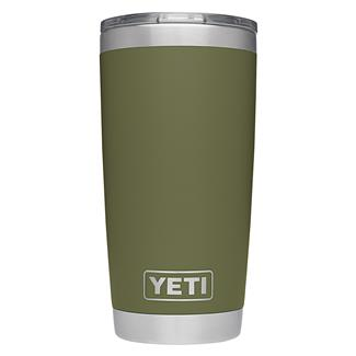 YETI Rambler 20 oz. Tumbler with Lid Olive Green