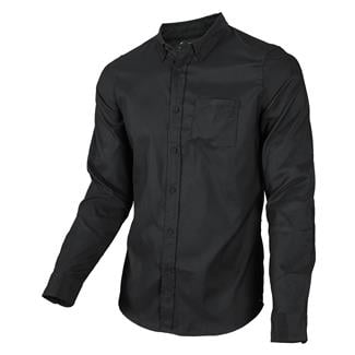Oakley Long Sleeve Solid Woven Button Up Blackout