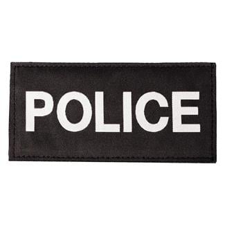 Blackhawk Police Patch White on Black